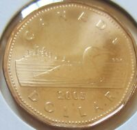 2005 Canada Loonie One Dollar Coin. UNC.Canadian 1 $