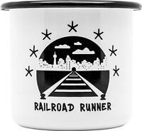 Montana ENAMEL MUG – RAILROAD RUNNER 300ML DESIGN BY FORMULA76