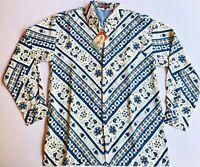 NWT Exclusive Wear Batik Satria Large Mens Indonesian Shirt Hawaiian Aloha Tapa