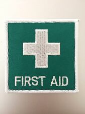 First Aid Patch - 10pcs - Iron Sew On - Embroidered Badge - Medical Green