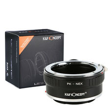 K&F Concept adapter with tripod for Pentax K mount lens to Sony E mount NEX A7R