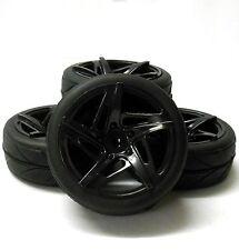 Hs211033b échelle 1/10 RC voiture sur la route roue pneu roulement v star en Plastique Noir x 4