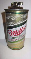 Original 12 Once Tin Can Vintage Miller High Life Beer Can Lighter Used.