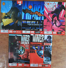 WINTER SOLDIER, THE BITTER MARCH #1-5, COMPLETE SET, ALL HIGH GRADE.