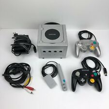 Nintendo Platinum GameCube Video Game System With 2 Controllers, Mic, Cables