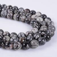 "8MM round square gemstone loose  jewelry making beads strand 15.5"" - 16"""