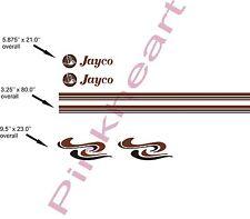 "Custom Pop up decal kits jayco stripe kit RV trailer boat graphics 80"" USA made"