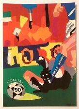 Cartolina Mondiali Di Calcio Italia 90 Ugo Nespolo - Bari (Nuovo Stadio) Gru