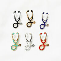Stethoscope Brooch Pin Doctor Nurse Collar Lapel Button Badge Medical NHS Gift