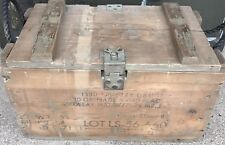 US ARMY WOODEN CRATE GRENADE With Markings Military Surplus Ammo Crate