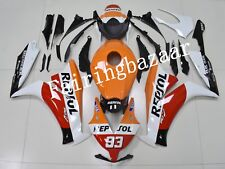 Fit for CBR1000RR 2012-2015 Repsol White Orange Red ABS Injection Fairing Kit