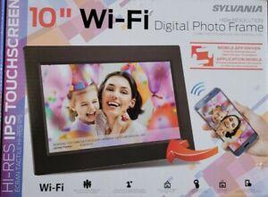 "Sylvania SDPF1095-B 10"" Wi-Fi Cloud Digital Picture Frame ,8GB, Black"