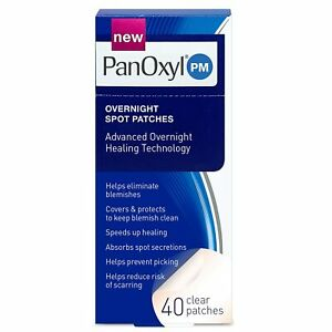 PanOxyl PM Overnight Spot Patches 40 Clear Patches Advanced Blemish Healing NEW!