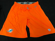 MIAMI DOLPHINS GAME USED ORANGE NIKE PRACTICE SHORTS GREAT CONDITION ALL SIZES!