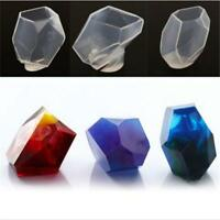 Crystal Geometric Jewelry Making Tools Mold Pendant Silicone Stone Resin CO