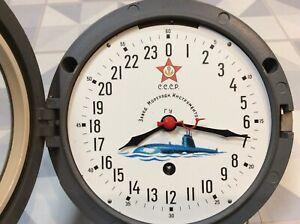 24H USSR RUSSIAN SOVIET SUBMARINE NAVY MARINE SHIP CLOCK