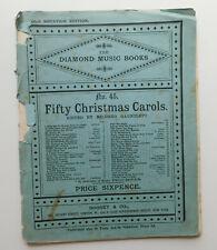 50 Christmas Carols Diamond Music Book 45 Gauntlett vintage Xmas songs