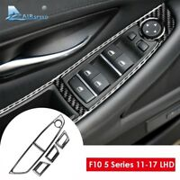 For BMW F10 5 Series LHD Carbon Fiber Interior Window Lifter Switch Cover Trim