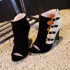 Roma Womens PeepToe Sandals Stilettos Buckle High Heels Dress Shoes All US SZ 9