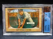1955 Bowman Phil Rizzuto #10 BVG Authentic Autographed JSA HOF New York Yankees