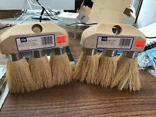 Two 3-knot roof brushes by Dqb Industries. (Sd6Ms)