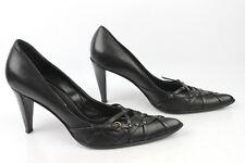 Zapatos COCCINELLE Todo de cuero negro T 40 MUY BUEN ESTADO