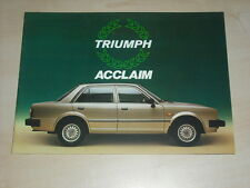 63210) Triumph Acclaim Prospekt 03/1982