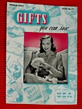 VINTAGE 1942 Gifts You Can Sew for Soldtiers Wedding Baby Teens Home Linens Toys