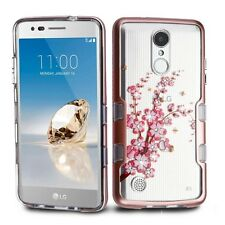 LG Aristo LV3 Phoenix 3 Transparent Clear TUFF Hybrid Protector Case Slim Cover