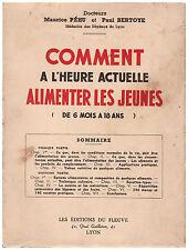 PEHU Maurice BERTOYE Paul - COMMENT A L'HEURE ACTUELLE ALIMENTER LES ENFANTS