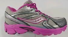 Saucony GRID COHESION 6 HL Girls Pink//Silver SY45504 Hook /& Loop Closure Shoes