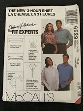 McCall's 6529 Shirt 1990s Sleeve and Collar Variations 3 Hour Pattern M 34 36