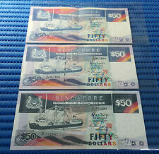 Singapore Ship Series $50 Note (Original, Enhanced Stardust & Cleartext Series)