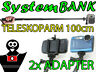 Teleskoparm 100cm Monopod Einbeinstativ für SONY ACTION CAM HDR-AS100V HDR-AZ1VR