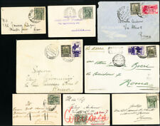 Italy Colonies Rare Early Lot of 25 Various Stamped Covers and Postcards