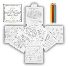 Children Wedding Activity Packs kids Favors & gift.Table Games.Pencils included.