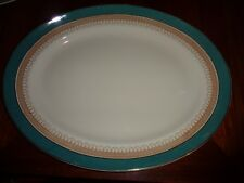 Losol Ware Keeling And Co Ltd CLAREMONT Green Circa 1930's? Huge Platter