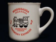 Mississauga Harmony Express Barber Shop Chorus Coffee Mug 22K Gold Trim Canada