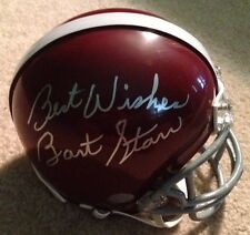 Bart Starr Signed Alabama Crimson Tide Mini Helmet COA