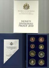 SAN MARINO  PROOF 2010 DIVISIONALE EURO RARE prezzo speciale fondo specchio RARA