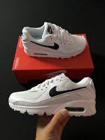 Nike Wmns Air Max 90 White Black Casual Sneaker CQ2560-1010 Size 5-6