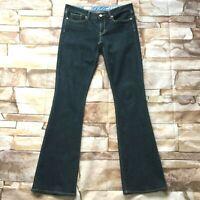 "Gap Womens Jeans size 10 Long Tall x36"" inseam Dark Wash Bootcut Cotton Stretch"
