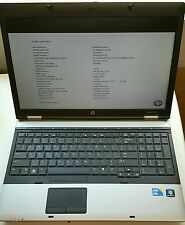 "HP PROBOOK 6550B CORE i5 - 2.53GHz 4GB 15.6"" Webcam DVD-RW w/Power Supply NO HDD"