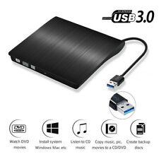 Externes DVD Laufwerk USB 3.0 Brenner Slim CD DVD-RW Brenner für PC Laptop Mac