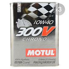Motul 300V Chrono 10W-40 Racing engine oil - 3 x 2 Litres 6L