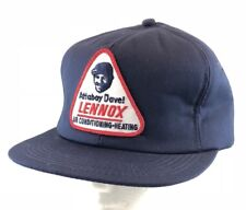 Vtg Lennox Hat Snapback Patch Cap K Brand Furnace Air Conditioner Heat Cool 80s
