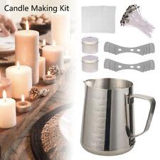 Soy Wax Candle Making Kit Tea Lights S/steel Wick Holders Kits
