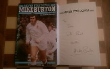 Never Stay Down SIGNED Mike Burton Autobiography Hardback Book 1982 1st edition