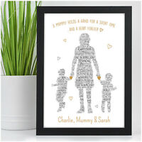 PERSONALISED Mum Mummy and Children Son Daughter Birthday Gifts Nanny Nan Mom