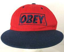 OBEY Logo Hat Cap Red & Black